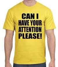 pedindo a atenção de alguém em inglês