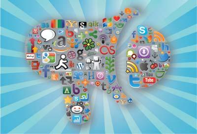 Blog Inglês na Rede nas Redes Sociais