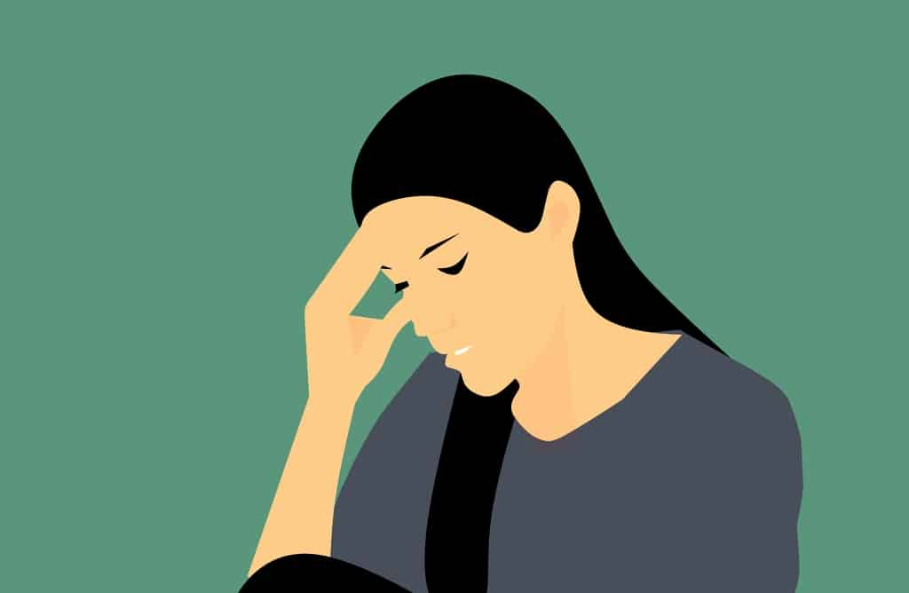 mulher depressiva