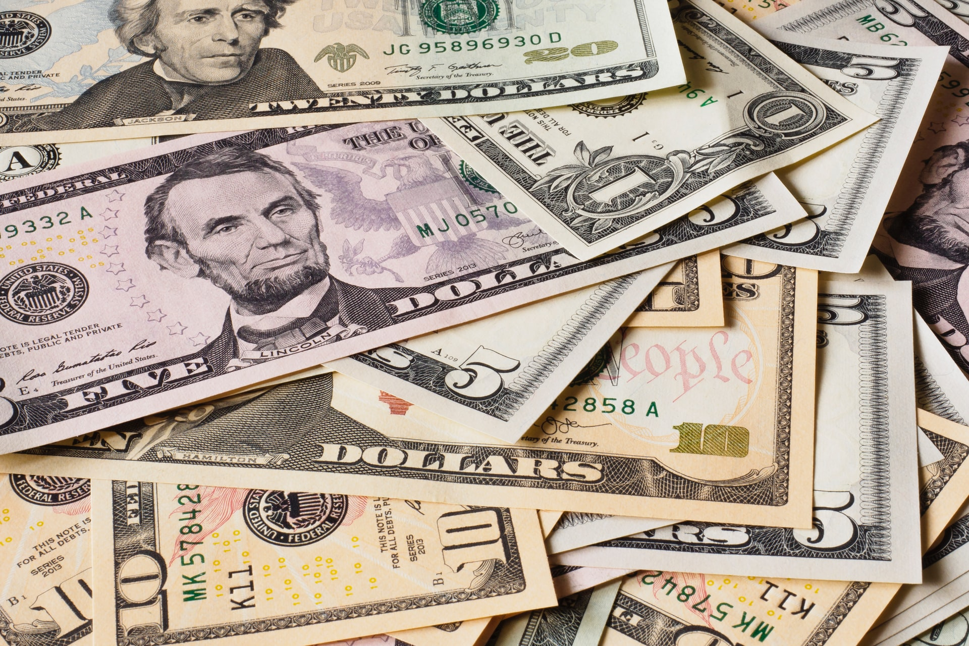 cedulas do dinheiro americano