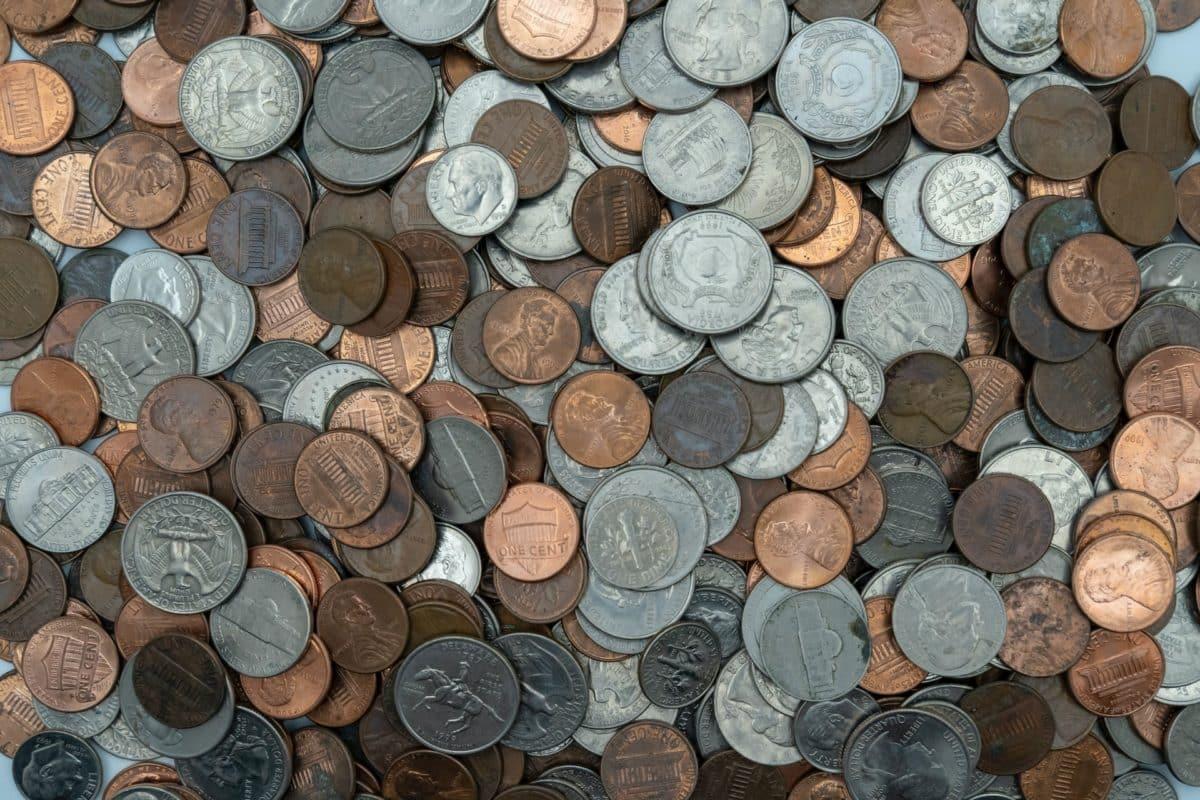 dinheiro americano moedas
