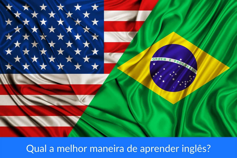 bandeiras dos EUA e do Brasil